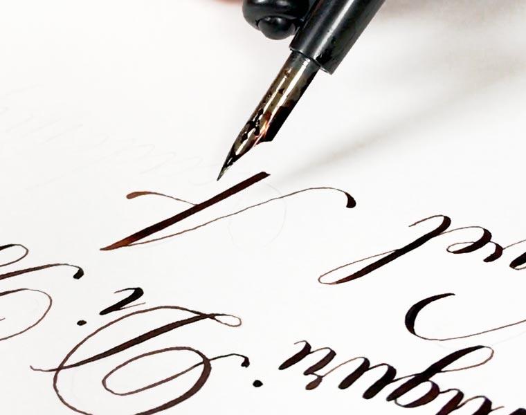 corso Calligrafia online corsivo inglese copperplate