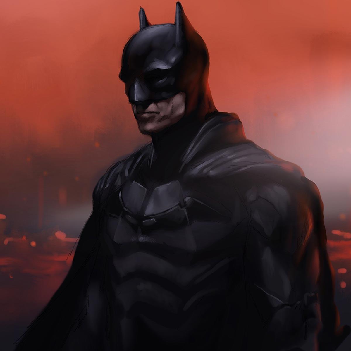 The Batman in Procreate