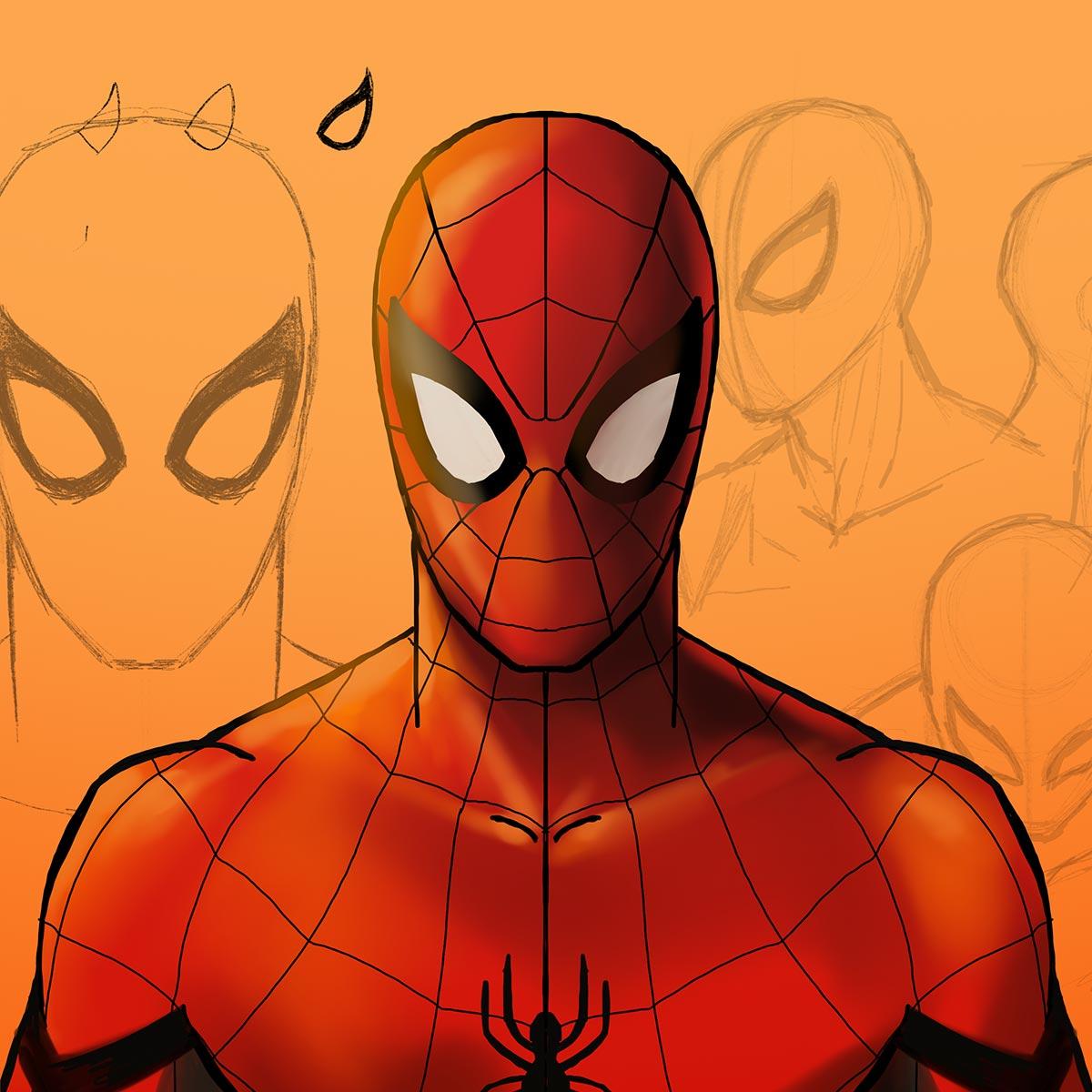 Come disegnare Spiderman con Procreate